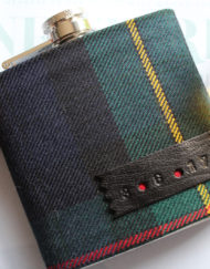 Personalised tartan hip flask gift